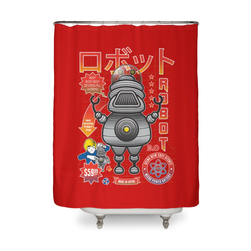 Robot 3.0 Home Shower Curtain by heavyhand's Artist Shop
