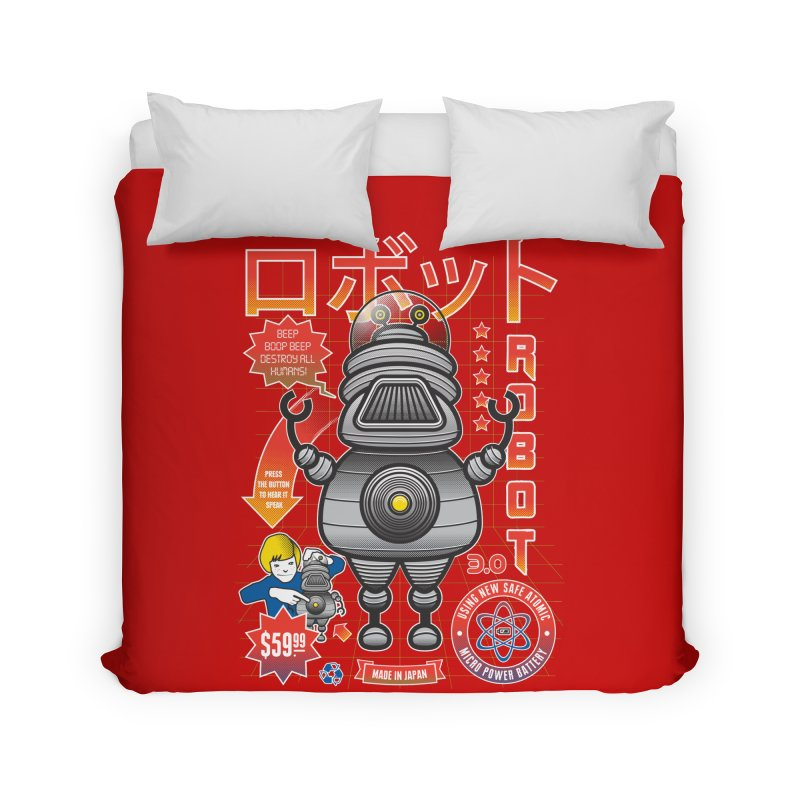 Robot 3.0 Home Duvet by heavyhand's Artist Shop