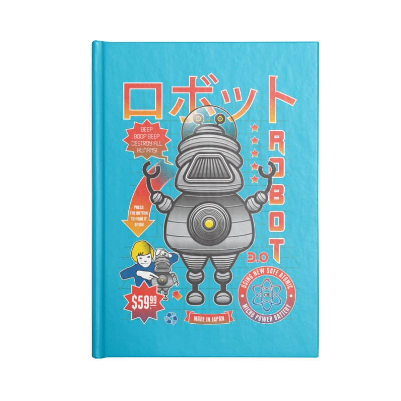 Robot 3.0 Accessories Notebook by heavyhand's Artist Shop