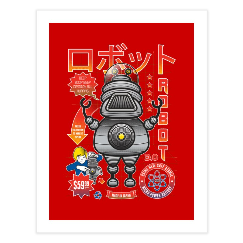 Robot 3.0 Home Fine Art Print by heavyhand's Artist Shop