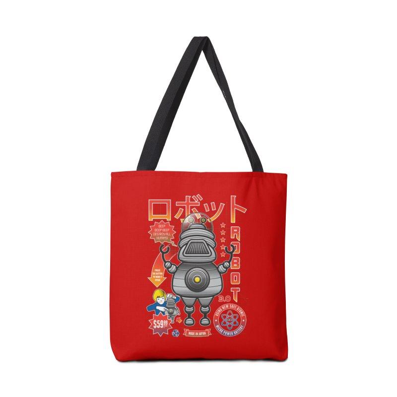 Robot 3.0 Accessories Bag by heavyhand's Artist Shop