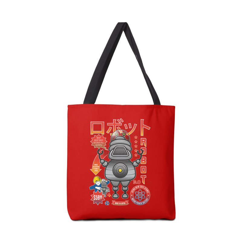 Robot 3.0 Accessories Tote Bag Bag by heavyhand's Artist Shop