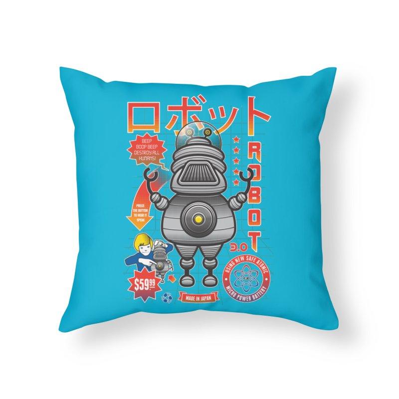 Robot 3.0 Home Throw Pillow by heavyhand's Artist Shop