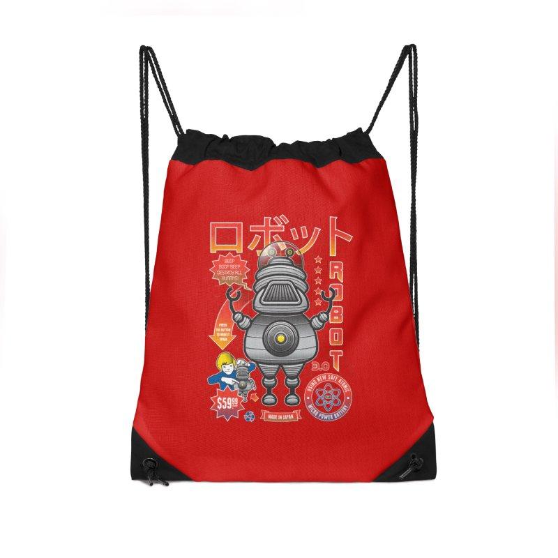 Robot 3.0 Accessories Drawstring Bag Bag by heavyhand's Artist Shop