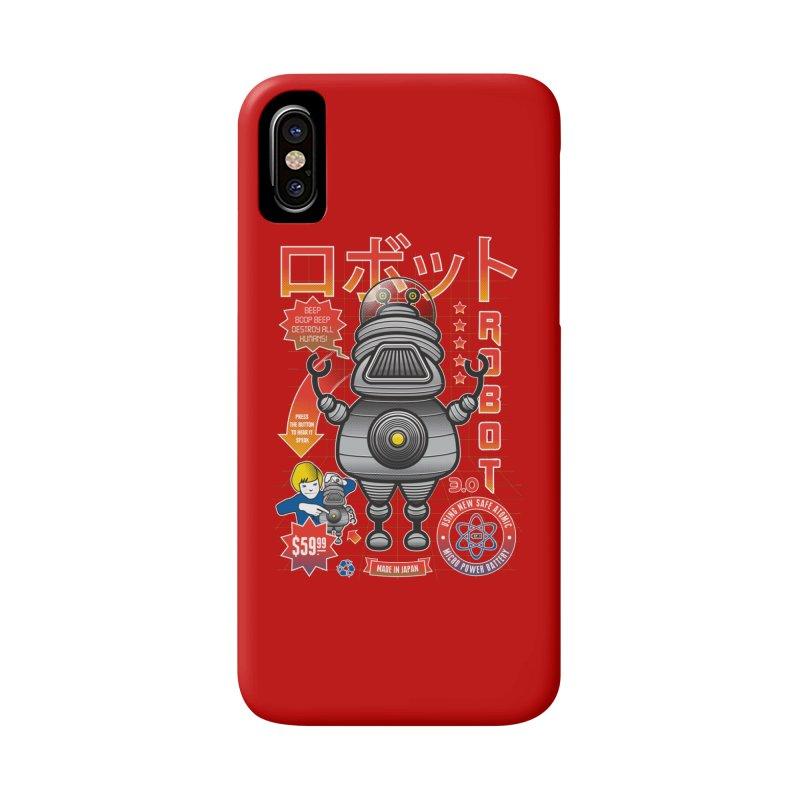Robot 3.0 Accessories Phone Case by heavyhand's Artist Shop