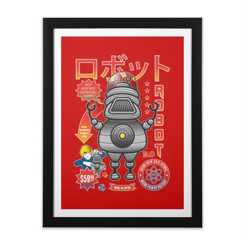 Robot 3.0 Home Framed Fine Art Print by heavyhand's Artist Shop