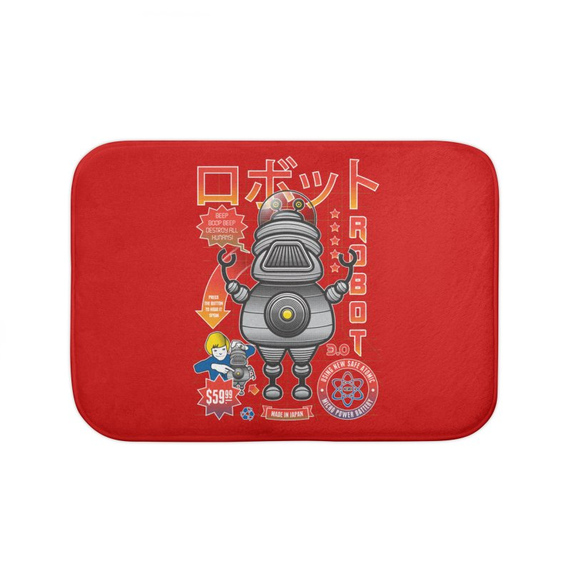 Robot 3.0 Home Bath Mat by heavyhand's Artist Shop