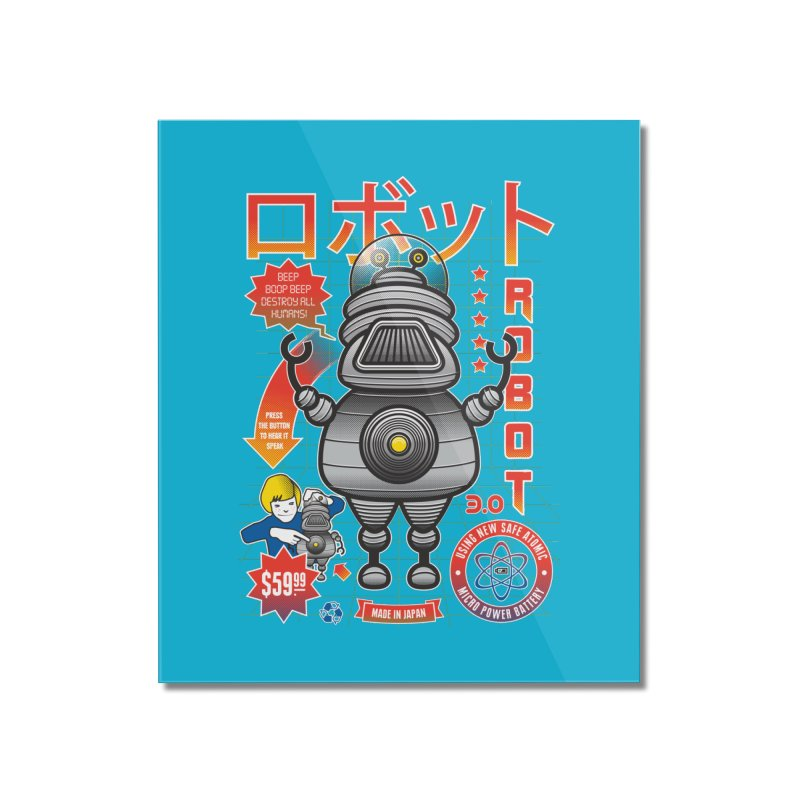 Robot 3.0 Home Mounted Acrylic Print by heavyhand's Artist Shop