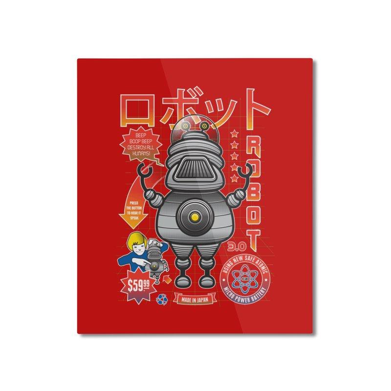 Robot 3.0 Home Mounted Aluminum Print by heavyhand's Artist Shop