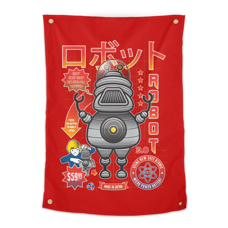 Robot 3.0 Home Tapestry by heavyhand's Artist Shop
