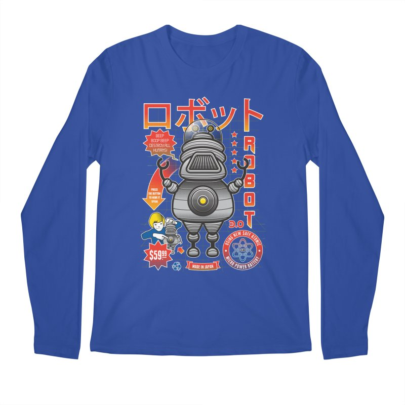 Robot 3.0 Men's Longsleeve T-Shirt by heavyhand's Artist Shop
