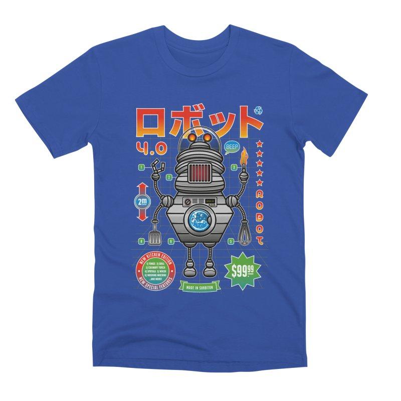 Robot 4.0 - Kitchen Edition Men's Premium T-Shirt by heavyhand's Artist Shop