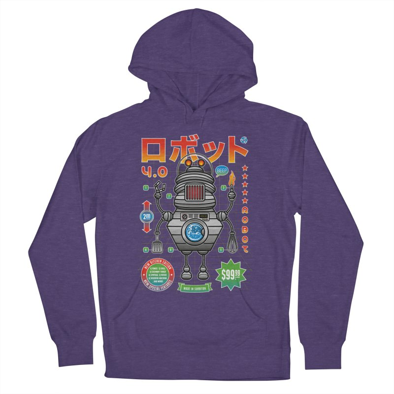 Robot 4.0 - Kitchen Edition Women's French Terry Pullover Hoody by heavyhand's Artist Shop