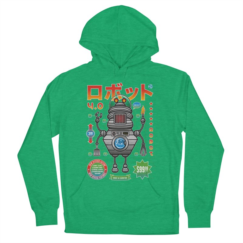 Robot 4.0 - Kitchen Edition Men's Pullover Hoody by heavyhand's Artist Shop