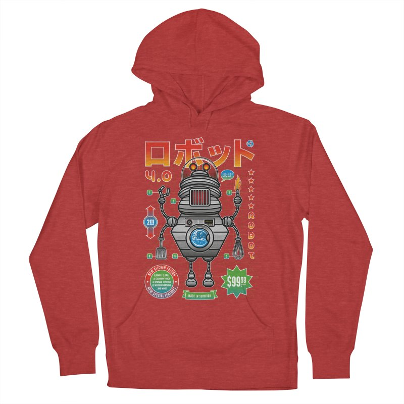 Robot 4.0 - Kitchen Edition Men's French Terry Pullover Hoody by heavyhand's Artist Shop