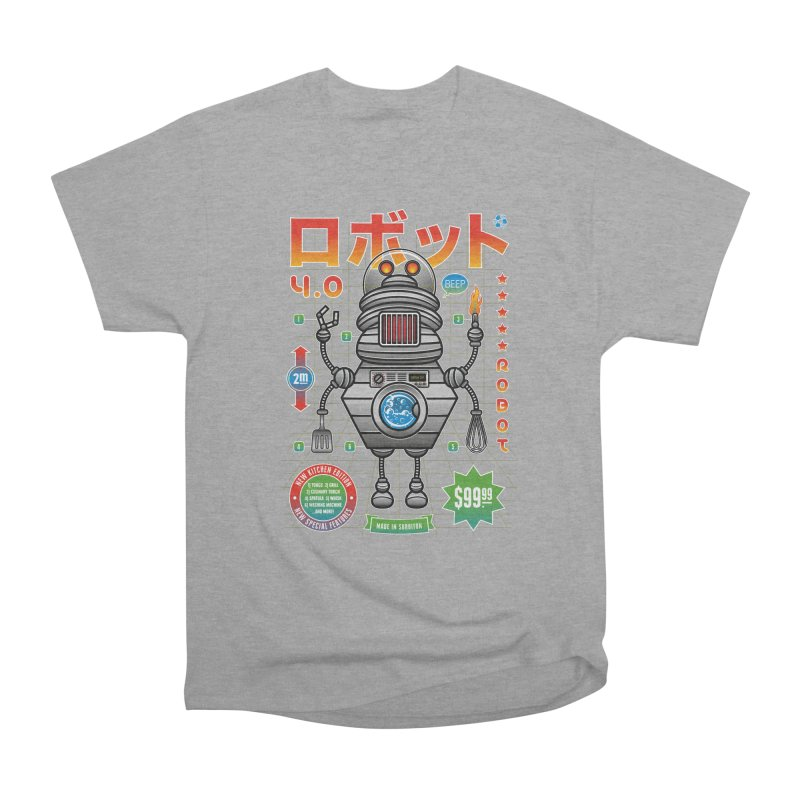 Robot 4.0 - Kitchen Edition Women's Heavyweight Unisex T-Shirt by heavyhand's Artist Shop