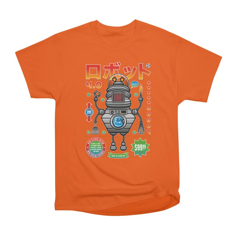 Robot 4.0 - Kitchen Edition Women's Heavyweight Unisex T-Shirt by heavyhand's Artist Shop