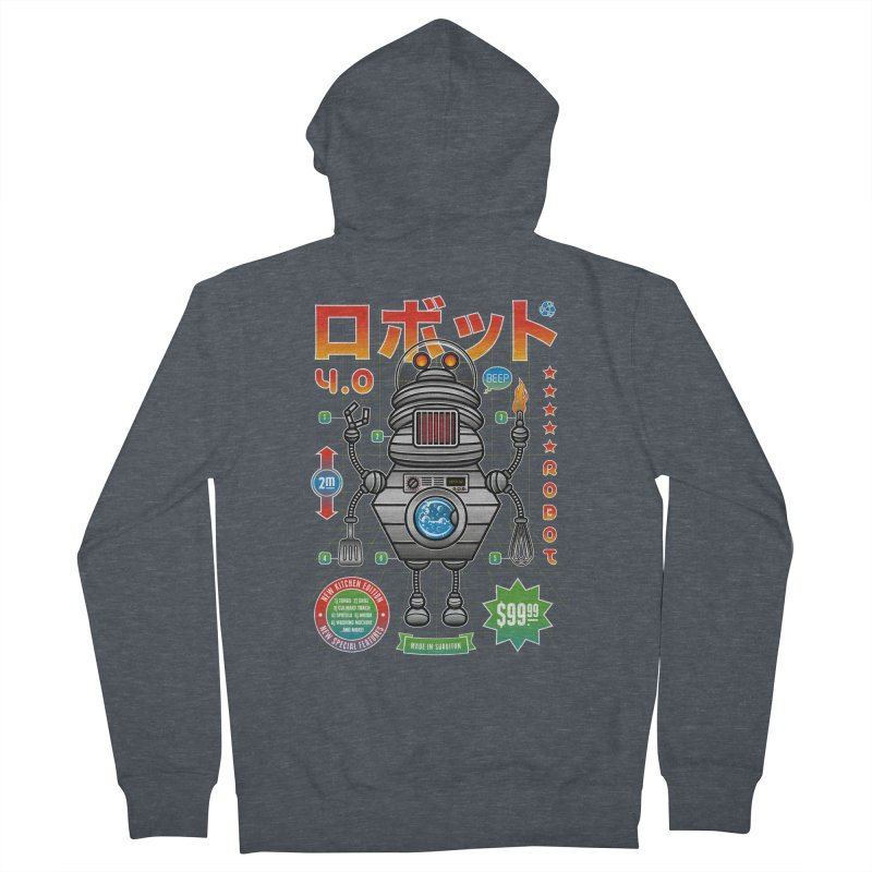 Robot 4.0 - Kitchen Edition Women's French Terry Zip-Up Hoody by heavyhand's Artist Shop