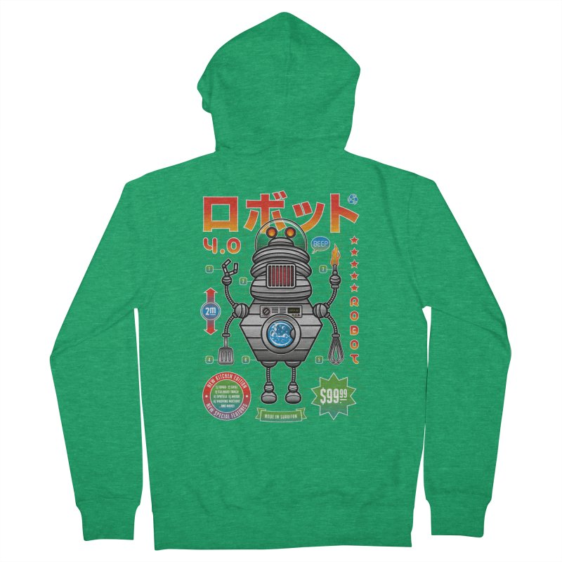 Robot 4.0 - Kitchen Edition Men's French Terry Zip-Up Hoody by heavyhand's Artist Shop