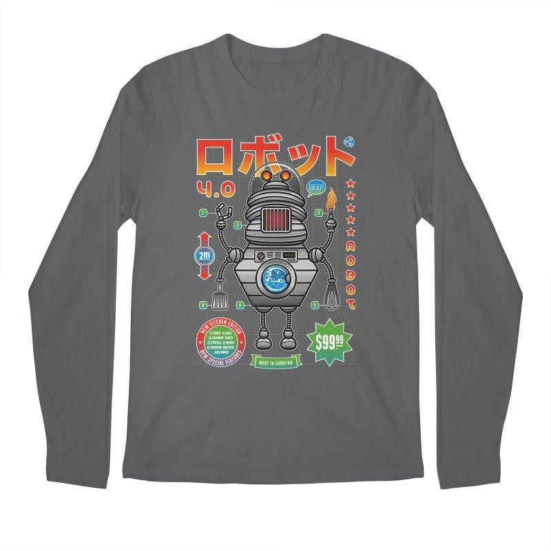 Robot 4.0 - Kitchen Edition Men's Longsleeve T-Shirt by heavyhand's Artist Shop