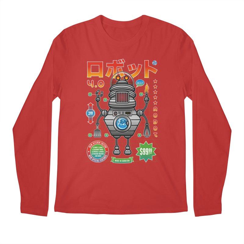 Robot 4.0 - Kitchen Edition Men's Regular Longsleeve T-Shirt by heavyhand's Artist Shop