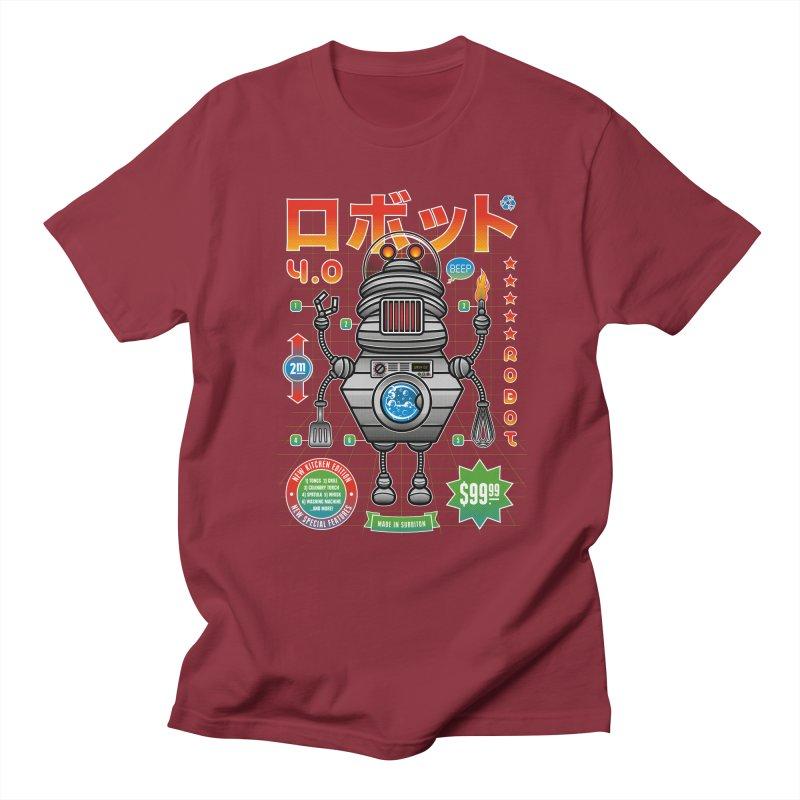 Robot 4.0 - Kitchen Edition Men's Regular T-Shirt by heavyhand's Artist Shop
