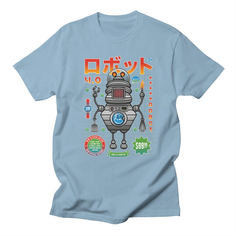 Robot 4.0 - Kitchen Edition Men's Regular T-Shirt by heavyhand's Artist Shop