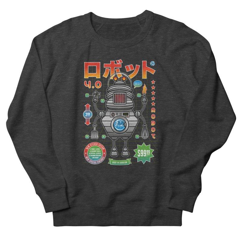 Robot 4.0 - Kitchen Edition Women's French Terry Sweatshirt by heavyhand's Artist Shop