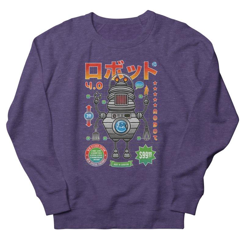 Robot 4.0 - Kitchen Edition Men's French Terry Sweatshirt by heavyhand's Artist Shop