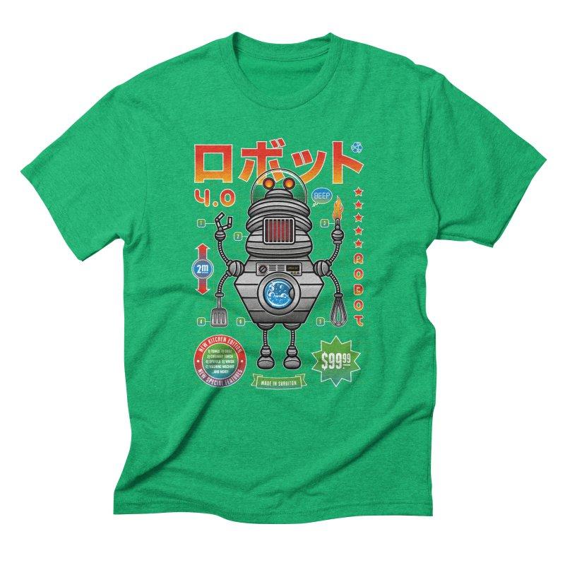 Robot 4.0 - Kitchen Edition Men's Triblend T-Shirt by heavyhand's Artist Shop