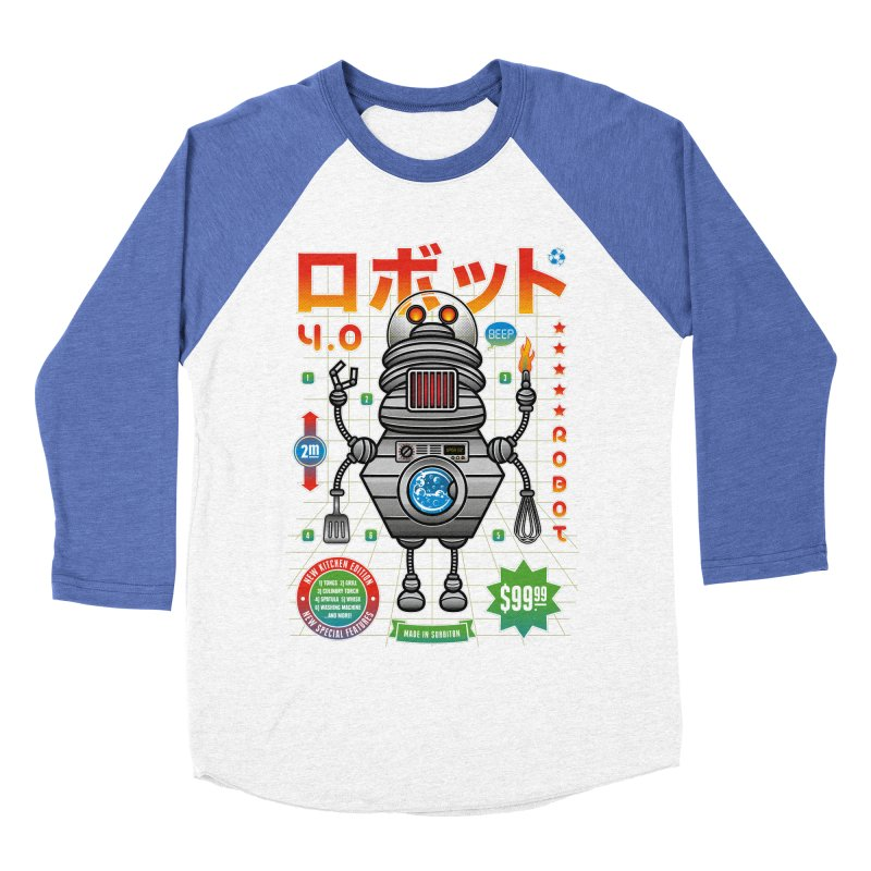 Robot 4.0 - Kitchen Edition Women's Baseball Triblend Longsleeve T-Shirt by heavyhand's Artist Shop