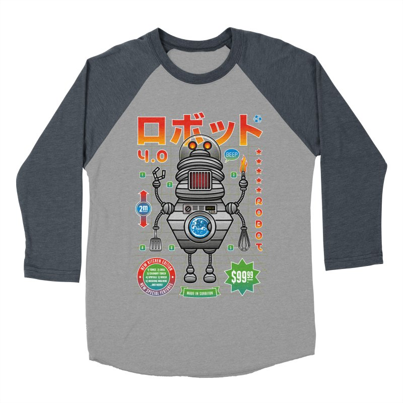 Robot 4.0 - Kitchen Edition Men's Baseball Triblend Longsleeve T-Shirt by heavyhand's Artist Shop