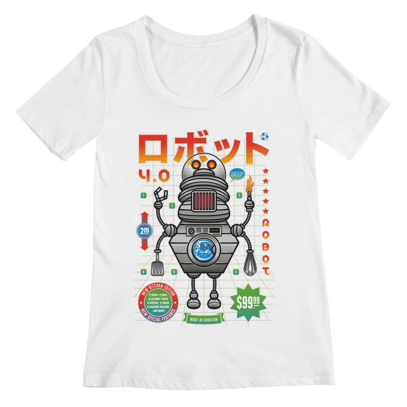 Robot 4.0 - Kitchen Edition Women's Scoopneck by heavyhand's Artist Shop