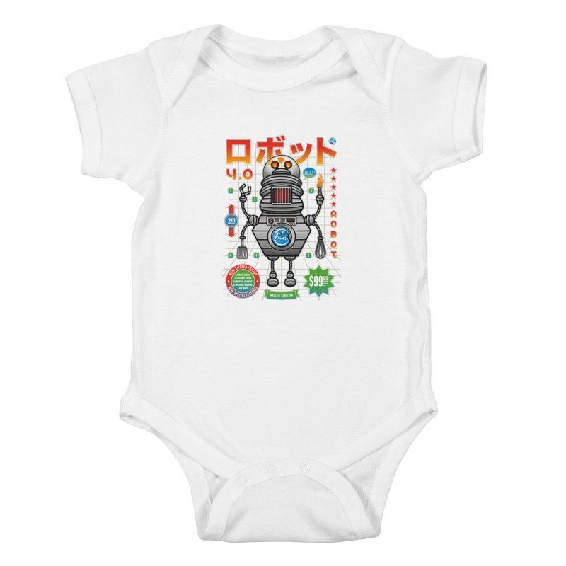 Robot 4.0 - Kitchen Edition Kids Baby Bodysuit by heavyhand's Artist Shop