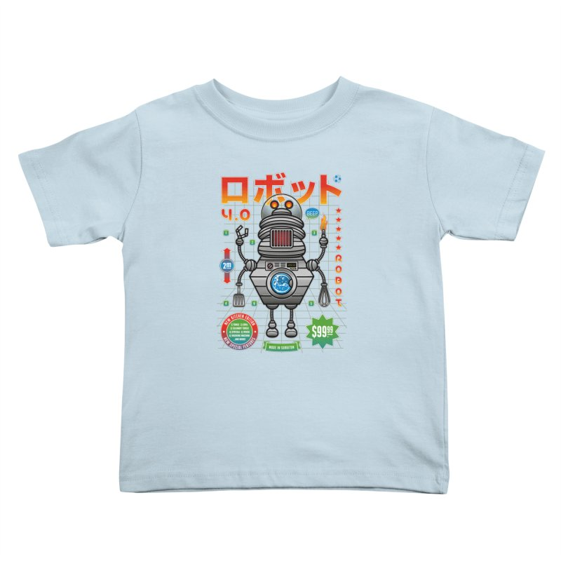 Robot 4.0 - Kitchen Edition Kids Toddler T-Shirt by heavyhand's Artist Shop