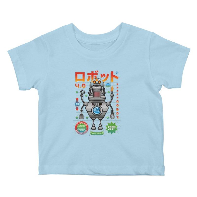 Robot 4.0 - Kitchen Edition Kids Baby T-Shirt by heavyhand's Artist Shop