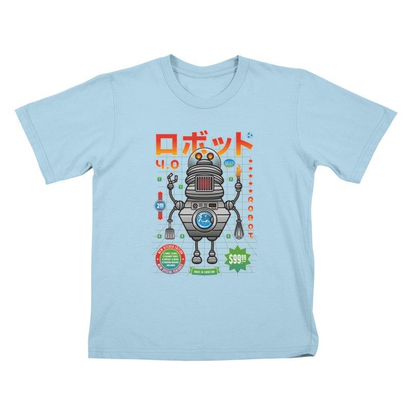 Robot 4.0 - Kitchen Edition Kids T-Shirt by heavyhand's Artist Shop