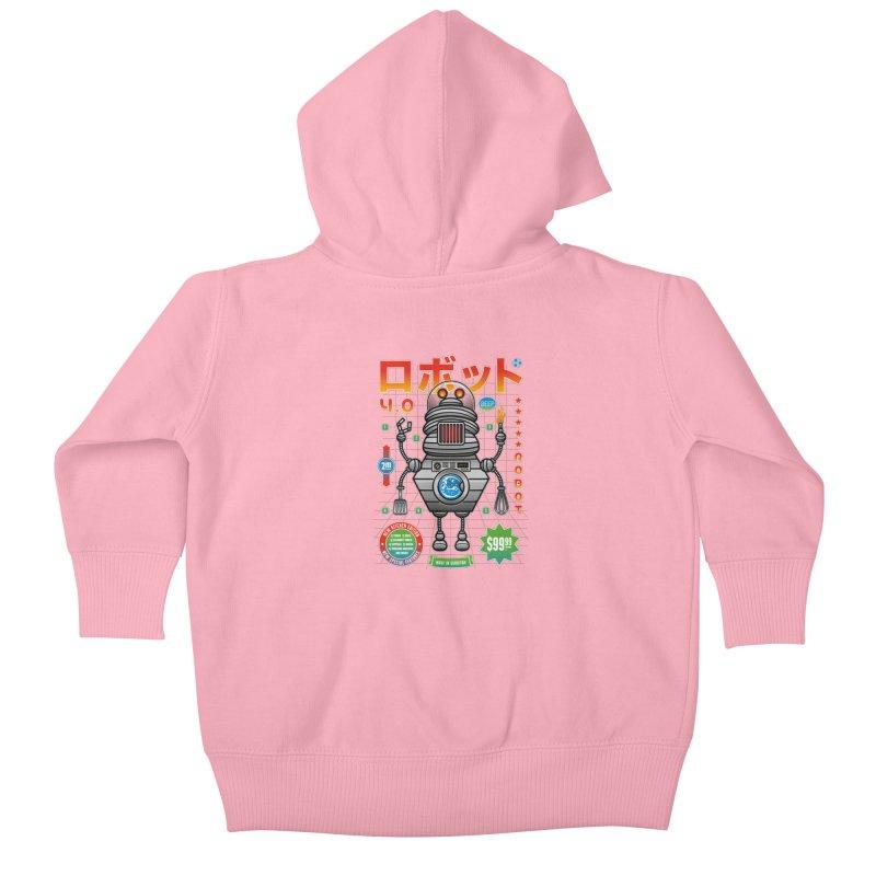 Robot 4.0 - Kitchen Edition Kids Baby Zip-Up Hoody by heavyhand's Artist Shop