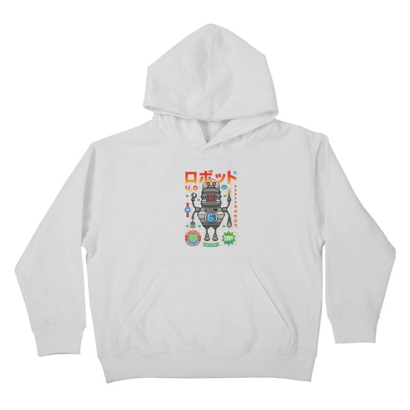Robot 4.0 - Kitchen Edition Kids Pullover Hoody by heavyhand's Artist Shop