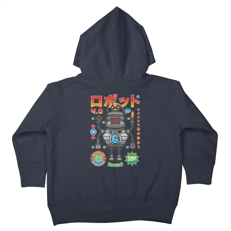 Robot 4.0 - Kitchen Edition Kids Toddler Zip-Up Hoody by heavyhand's Artist Shop