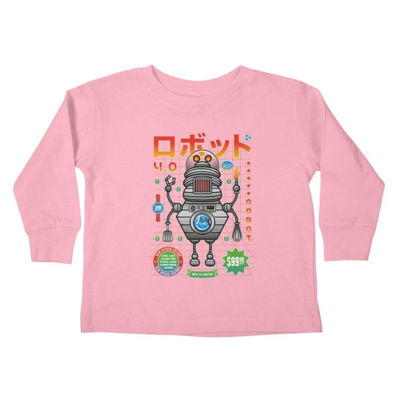 Robot 4.0 - Kitchen Edition Kids Toddler Longsleeve T-Shirt by heavyhand's Artist Shop
