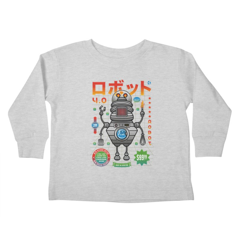 Robot 4.0 - Kitchen Edition Kids Toddler Longsleeve T-Shirt by heavyhand's Artist Shop