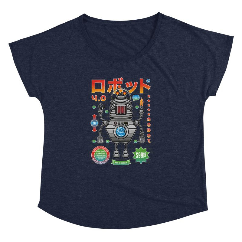 Robot 4.0 - Kitchen Edition Women's Dolman Scoop Neck by heavyhand's Artist Shop