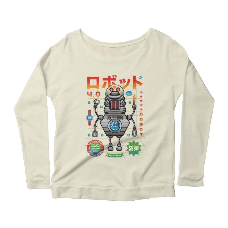 Robot 4.0 - Kitchen Edition Women's Scoop Neck Longsleeve T-Shirt by heavyhand's Artist Shop