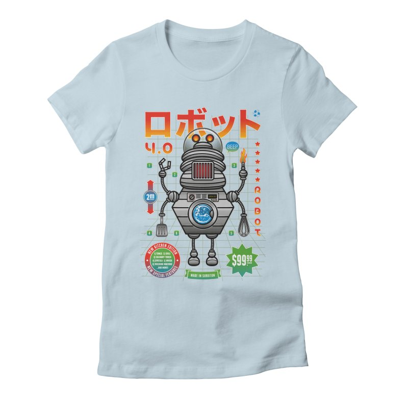 Robot 4.0 - Kitchen Edition Women's Fitted T-Shirt by heavyhand's Artist Shop