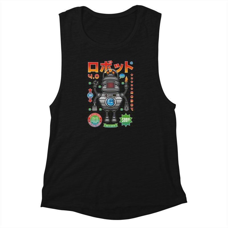 Robot 4.0 - Kitchen Edition Women's Muscle Tank by heavyhand's Artist Shop