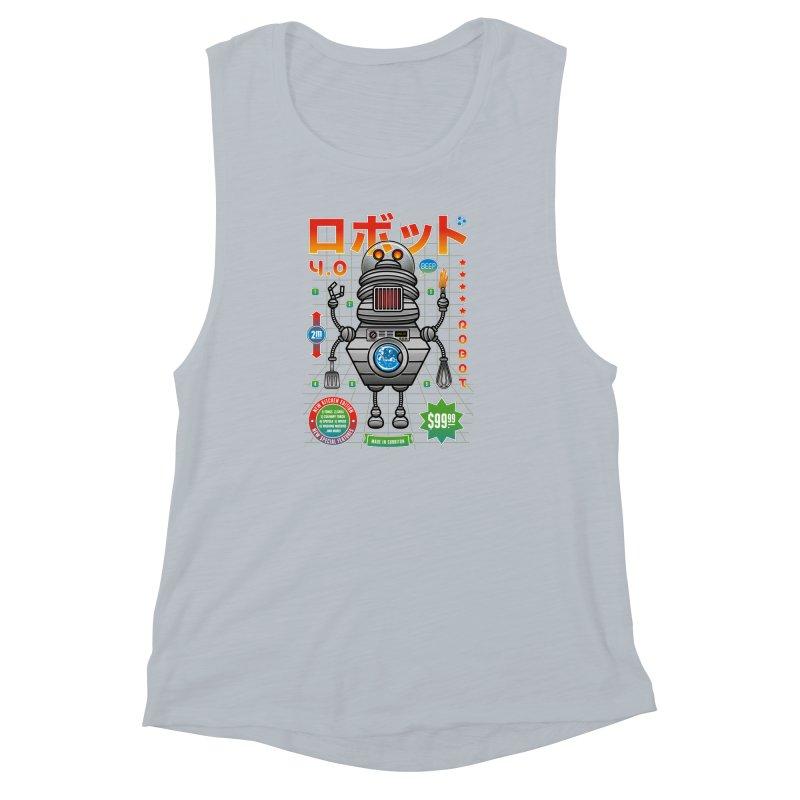 Robot 4.0 - Kitchen Edition Women's Muscle Tank by heavyhand's Artist Shop