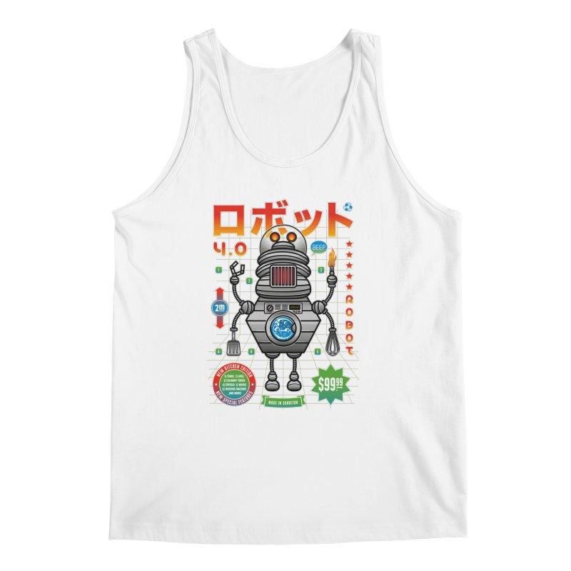 Robot 4.0 - Kitchen Edition Men's Regular Tank by heavyhand's Artist Shop