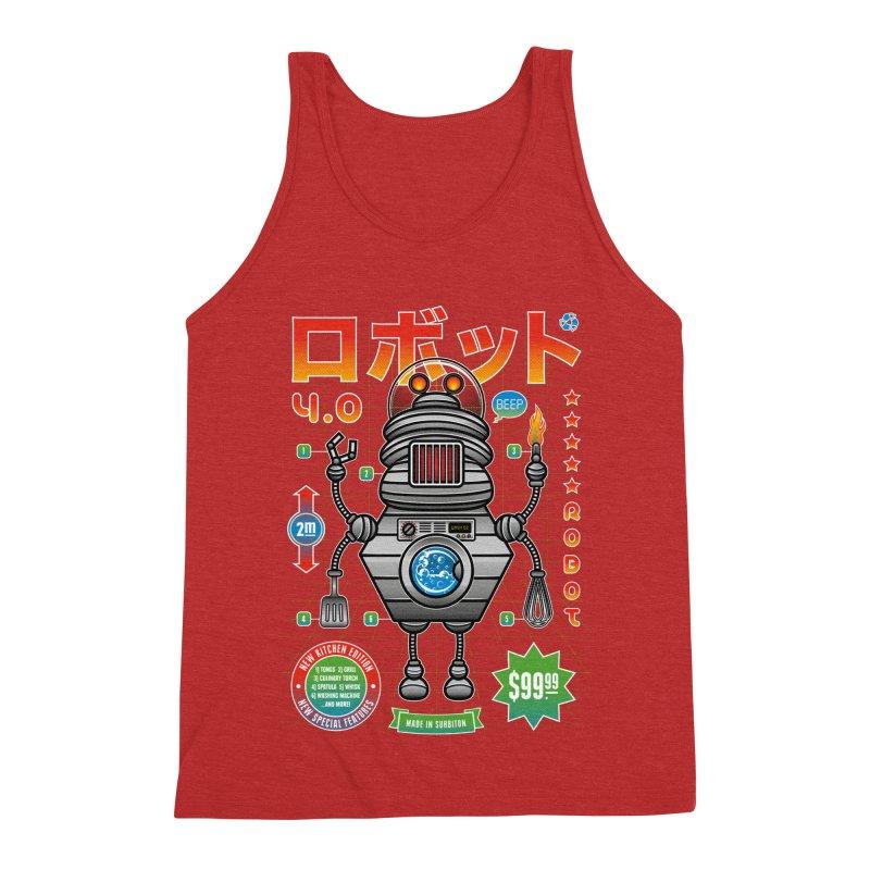 Robot 4.0 - Kitchen Edition Men's Triblend Tank by heavyhand's Artist Shop