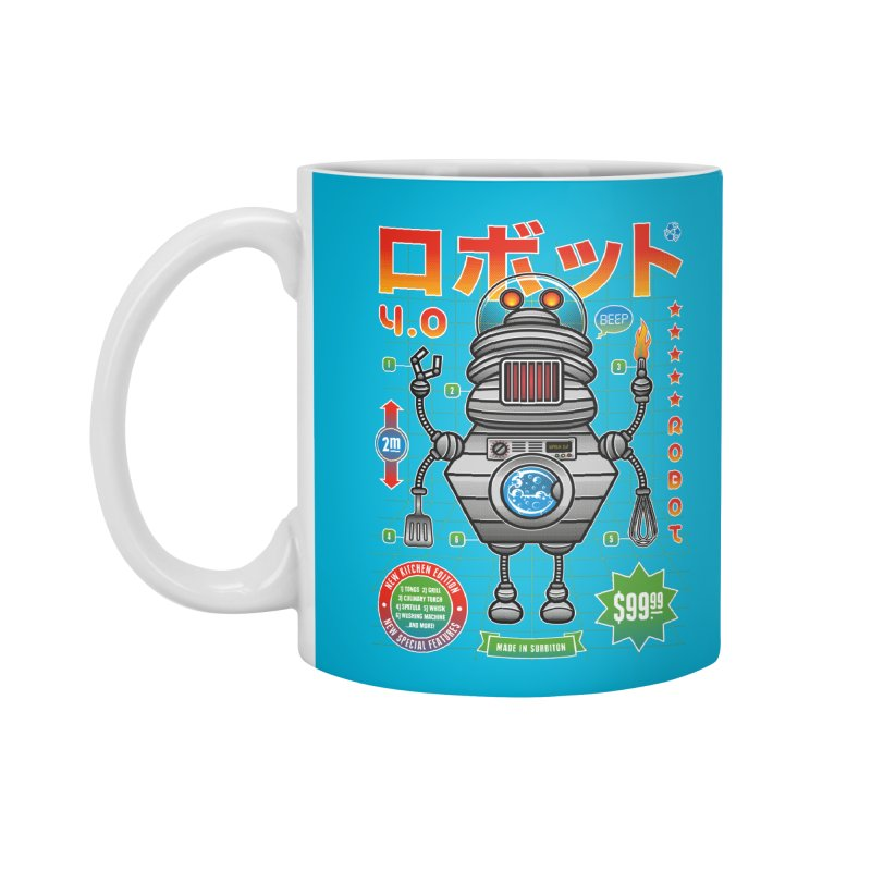 Robot 4.0 - Kitchen Edition Accessories Mug by heavyhand's Artist Shop